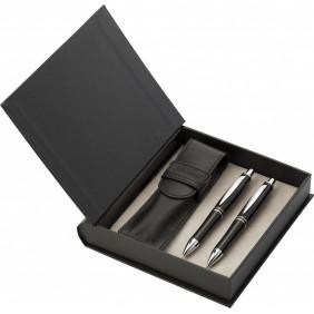 Zestaw piśmienny Charles Dickens, ołówek mechaniczny, długopis i etui - V1652-03