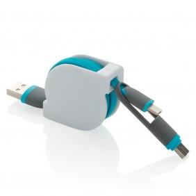 Zwijany kabel do ładowania i synchronizacji 3 w 1 - V0160-11