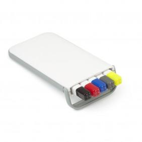 Zestaw piśmienny, ołówek, zakreślacz i długopisy z wkładem w kolorze nakrętki - V1314-02