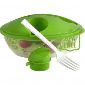 Pudełko śniadaniowe 1 L, widelec i pojemnik na sos do sałatki ok. 50 ml - V8574-10