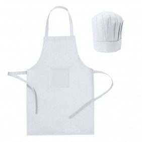 Zestaw kucharza, fartuch kuchenny i czapka kucharska, rozmiar dziecięcy - V9542-02