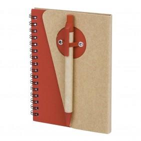 Notatnik ok. A6 z długopisem - V2800-05