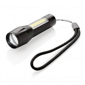 Kieszonkowa latarka LED 3W ze światłem COB - P513.521
