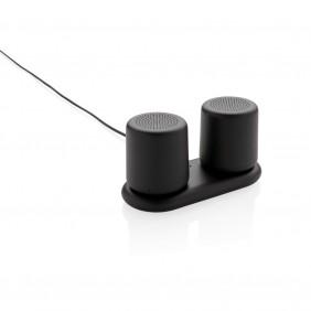 Zestaw głośników bezprzewodowych 2x3W, ładowane indukcyjnie - P328.331