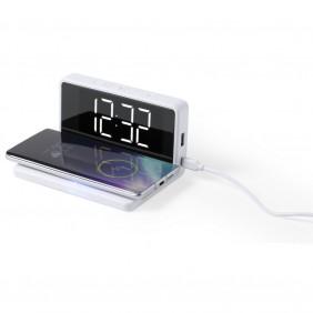 Ładowarka bezprzewodowa 5W, zegar na biurko z budzikiem - V0392-02