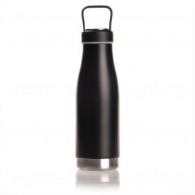 Butelka termiczna 475 ml Mauro Conti z uchwytem i metalowym ringiem na spodzie, pojemnik w zakrętce - V0849-03