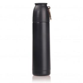Termos próżniowy 450 ml Air Gifts z karabińczykiem, nakrętka w kształcie kubka - V0851-27
