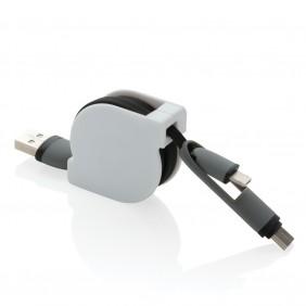 Zwijany kabel do ładowania i synchronizacji 3 w 1 - P302.221