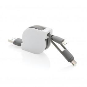 Zwijany kabel do ładowania i synchronizacji 3 w 1 - V0160-02