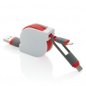 Zwijany kabel do ładowania i synchronizacji 3 w 1 - V0160-05