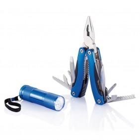 Zestaw narzędzi, narzędzie wielofunkcyjne 14 el., latarka LED - P238.085