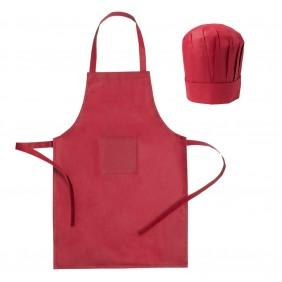 Zestaw kucharza, fartuch kuchenny i czapka kucharska, rozmiar dziecięcy - V9542-05