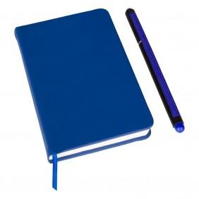 Notatnik ok. A6 z długopisem z zatyczką, touch pen - V2887-04