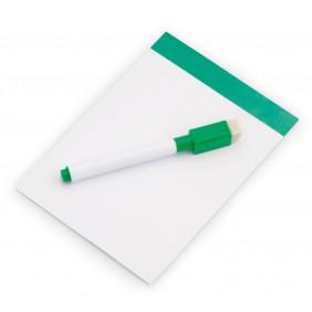 Magnetyczna tablica do pisania, pisak, gumka - V7560-06