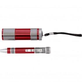 Zestaw narzędzi, latarka LED, śrubokręt wielofunkcyjny - V9767-05